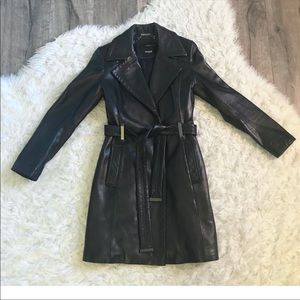 Wilson's Leather Thinsulate Leather Trench Coat